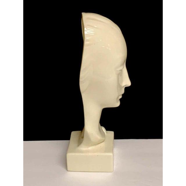 White Geza De Vegh for Lenox Art Deco Portrait Bust of a Woman Sculpture For Sale - Image 8 of 13