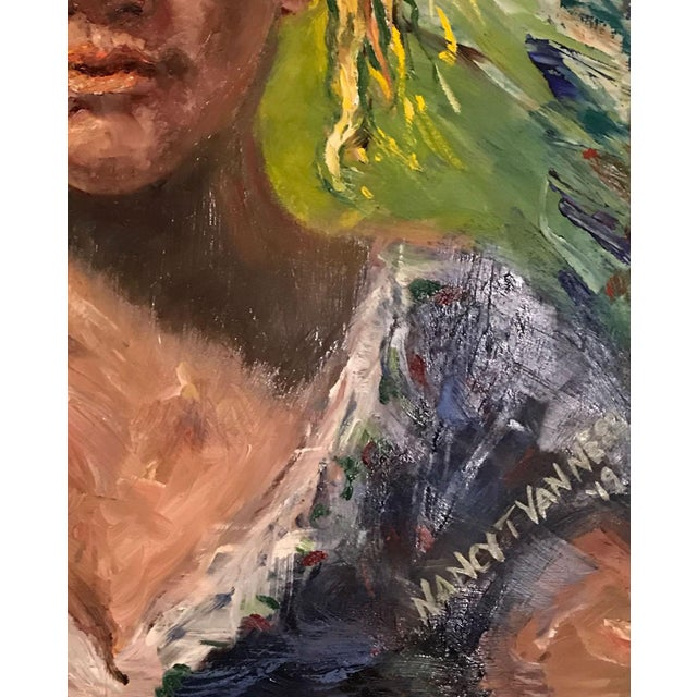 2010s 'The Barmaid' Original Oil Signed & Framed Painting For Sale - Image 5 of 13