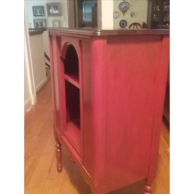 1940s Red Radio Cabinet - Image 6 of 6
