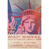 Image of 1986 Original French Exhibition Poster, 10 Statues (Lady Liberty), Andy Warhol For Sale