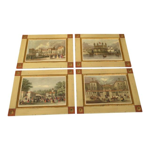 W. King Ambler 'London Views' Framed Prints - Set of 4 For Sale