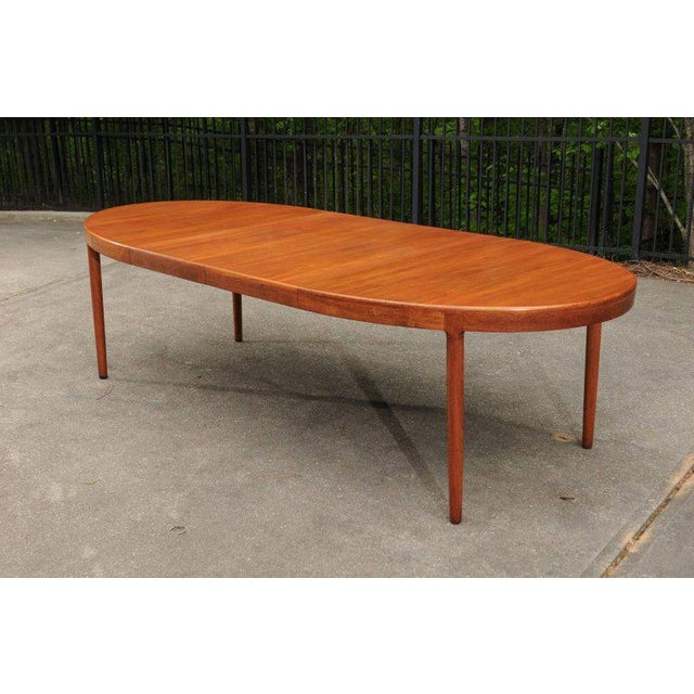 Magnificent Teak Extension Dining Table by Harry Ostergaard, Circa 1963 For Sale In Atlanta - Image 6 of 11