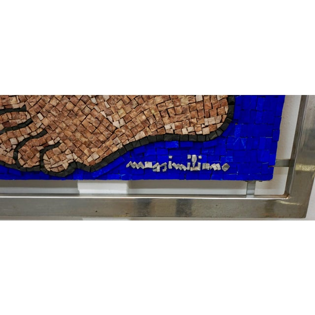 Abstract Expressionism 1970s Figurative Abstract Mosaic Glass Sculpture by Massimomiliano Beltrame, Framed For Sale - Image 3 of 7