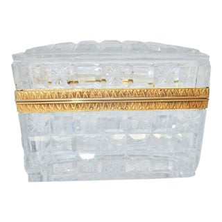 Baccarat Crystal Box For Sale