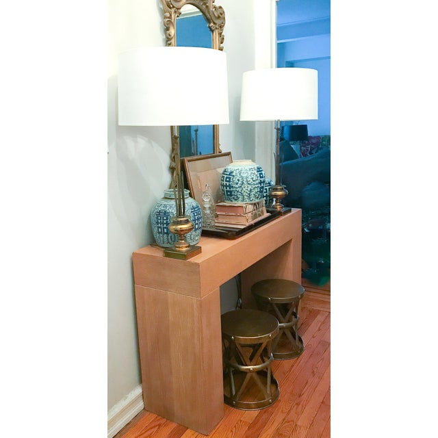 Modern Wood Console Table - Image 2 of 10