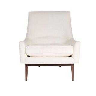 Customizable Cedrick Walnut Base Lounge Chair For Sale
