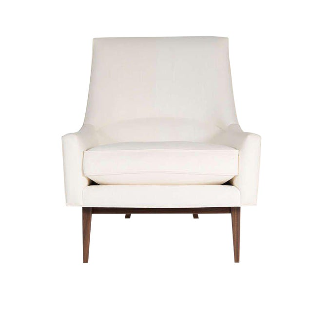 Customizable Cedrick Walnut Base Lounge Chair For Sale