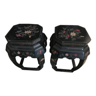 Vintage Mid Century Chinese Stools - a Pair For Sale