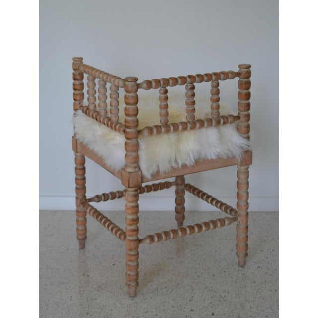 Brown Turned Wood Corner Chair For Sale - Image 8 of 13