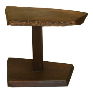 Alan Rockwell Style Live Edge Side Table For Sale
