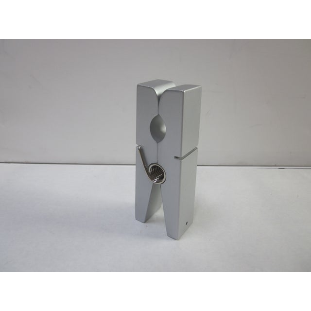Silver Pop Art Modernist Clothespin Paperclip - Image 4 of 5