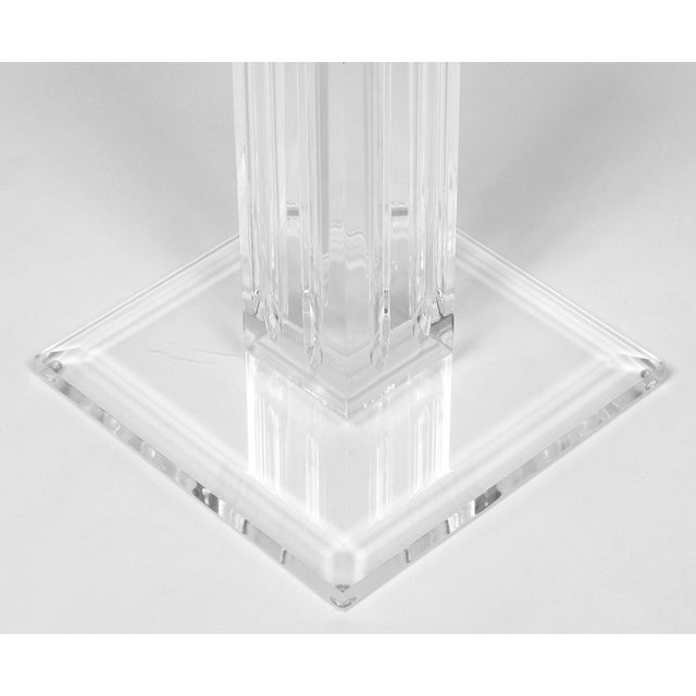Lucite French Mid-Century Lucite Pedestal For Sale - Image 7 of 9