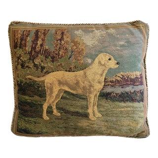 Golden Labrador Tapestry Pillow