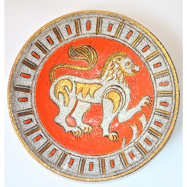 This is a fantastic mid century Italian art pottery sgraffito platter or bowl designed by Fratelli Fanciullacci, possibly...