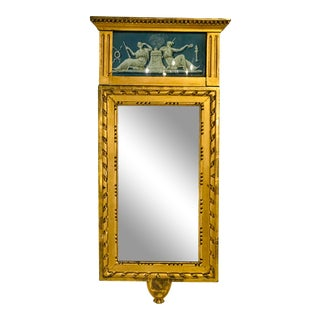 19th Century Swedish Carved, Gilt and Painted Mirror For Sale