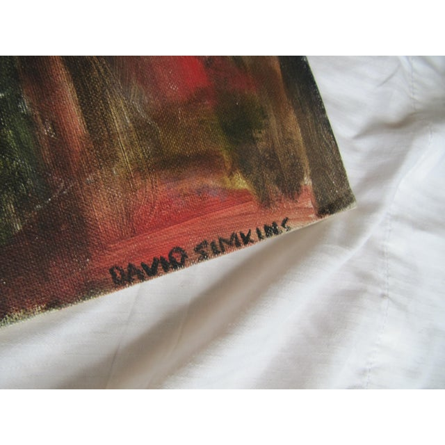 1990s Impressionist Acrylic Painting of Redwoods For Sale - Image 5 of 7