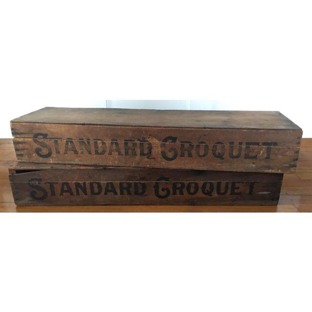Antique Standard Croquet Set For Sale - Image 4 of 5