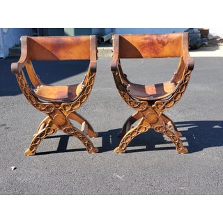 1940s Vintage Spanish Style Chairs- A Pair Preview