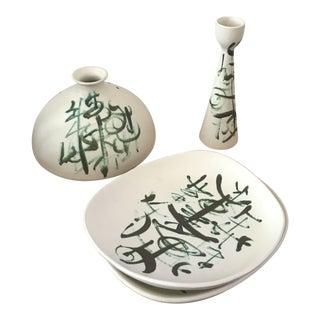 Sascha Brastoff Ceramic Set - 3 Pieces For Sale