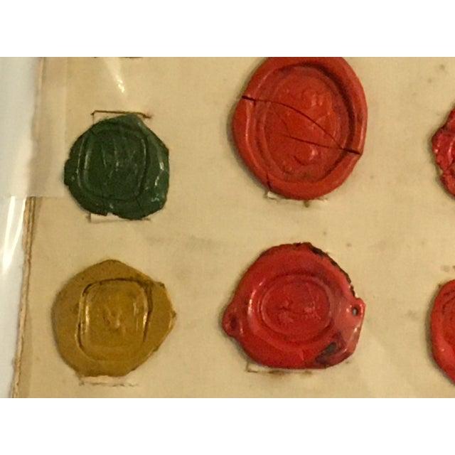 Antique English Multi Color Intaglio Wax Seals For Sale - Image 10 of 13