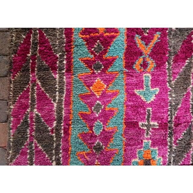 Vintage Moroccan Purple & Teal Talsint Rug