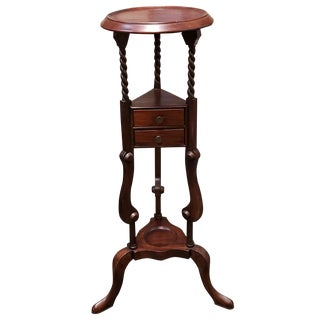 1880 English Victorian Queen Anne Style Mahogany Wash Stand For Sale