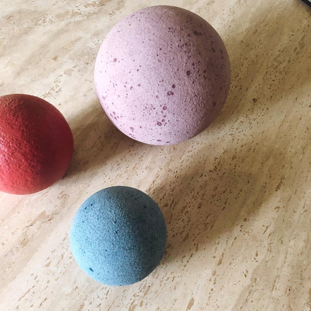 Artist Made Post Modern Sphere Trio - Set of 3 For Sale - Image 4 of 8