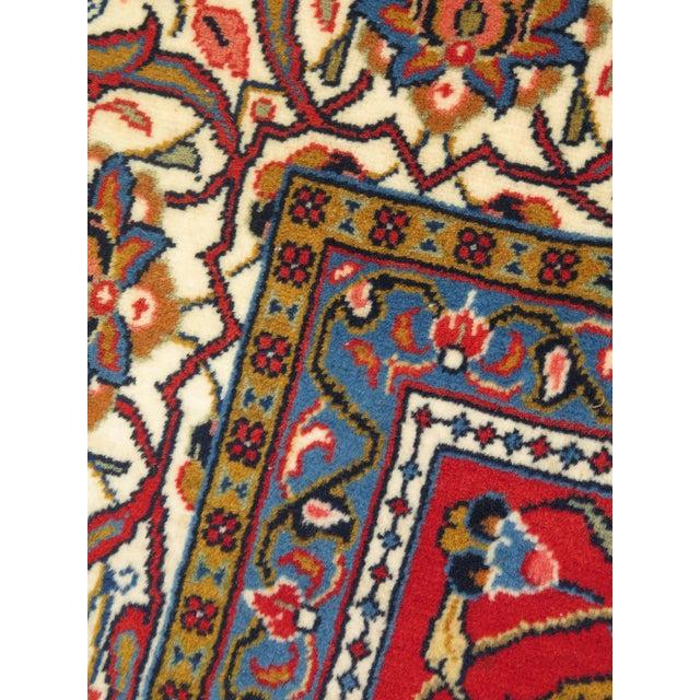 1980s Vintage Sarouk Pattern Rug- 8′ × 11′6″ For Sale - Image 4 of 11