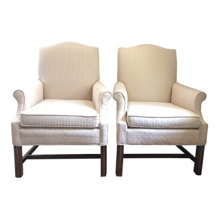 1960s Vintage Fairfield Upholstered Chairs- A Pair For Sale