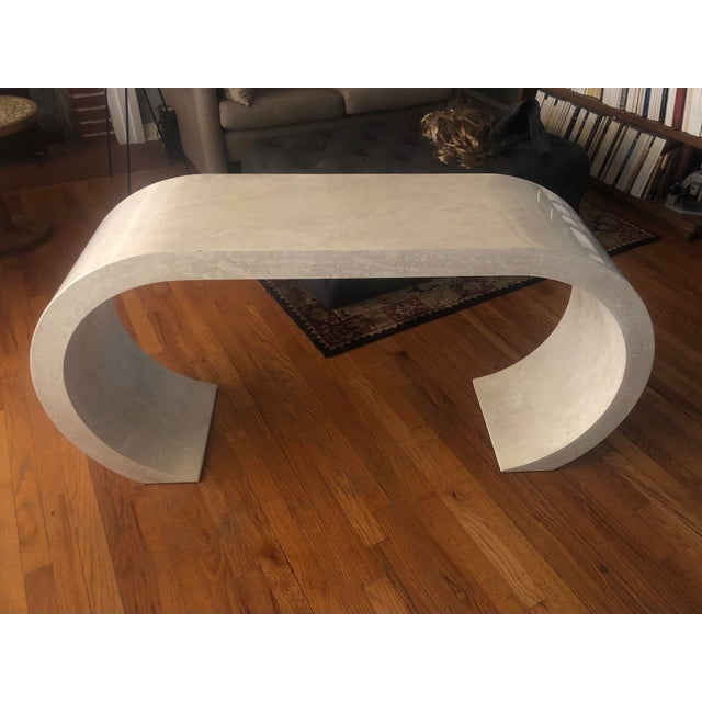 1970s Contemporary Lacquered Waterfall Console Table For Sale - Image 13 of 13