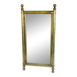 1960's Campaign Style Gold Gilt Wood Mirror For Sale