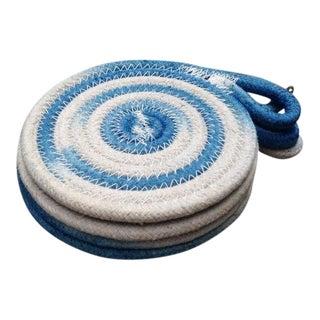 Indigo Dyed Ikat Rope Coasters - Set of 4