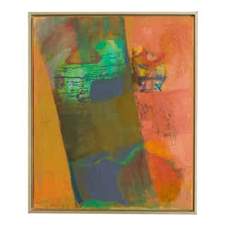 1970s Abstract Expressionist Painting, Framed For Sale