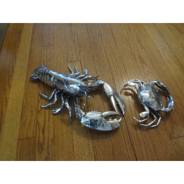 Vintage Italian Silver Plated Lobster and Crab For Sale In Houston - Image 6 of 13