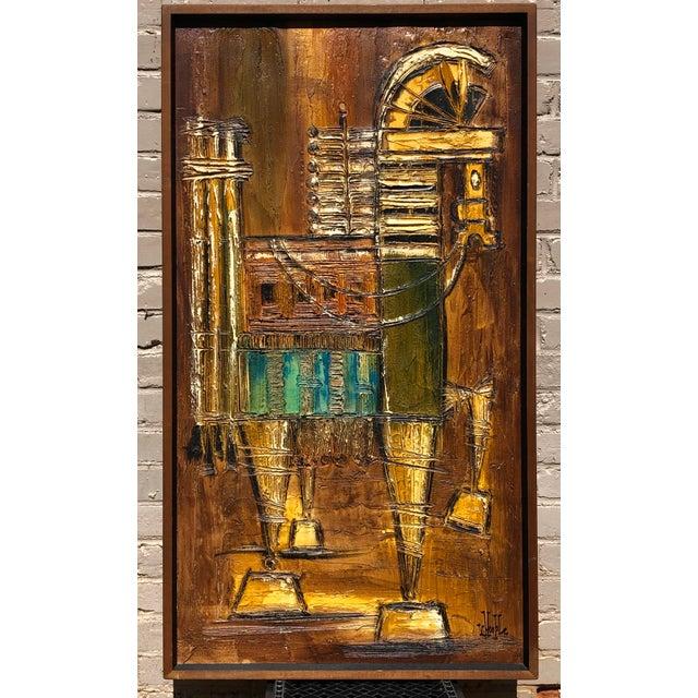Mid-Century Original Van Hoople Impasto Oil on Board For Sale In Greenville, SC - Image 6 of 6
