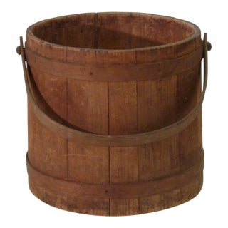 Late 19th Century Americana Wooden Firkin For Sale