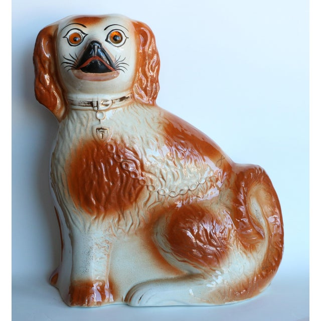 Antique Staffordshire Mantel Dogs - a Pair For Sale - Image 4 of 10