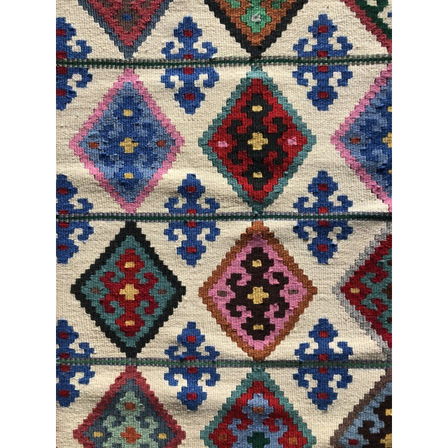 1990s Multi-Colored Wool Rug - 2′2″ × 4′9″ For Sale - Image 4 of 6