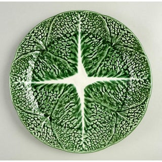 1970s Secla Cabbage Green Dinner Plate - Set of 8 Preview