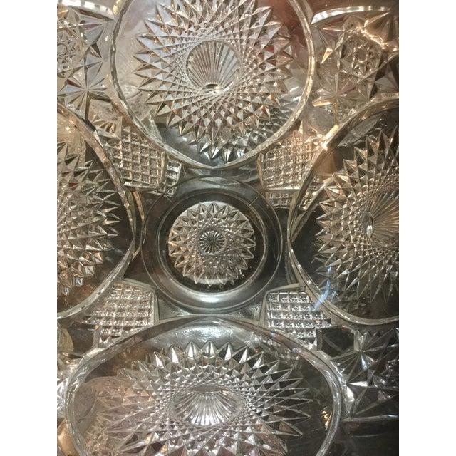 Traditional Antique Large Versatile Punch Bowl Set For Sale - Image 3 of 8