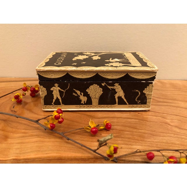 Vintage Mid-Century Hinged Guerlain Box For Sale - Image 4 of 12