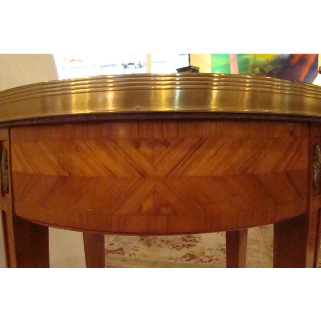 French Louis XVI Style Bouillotte Table - Image 11 of 11