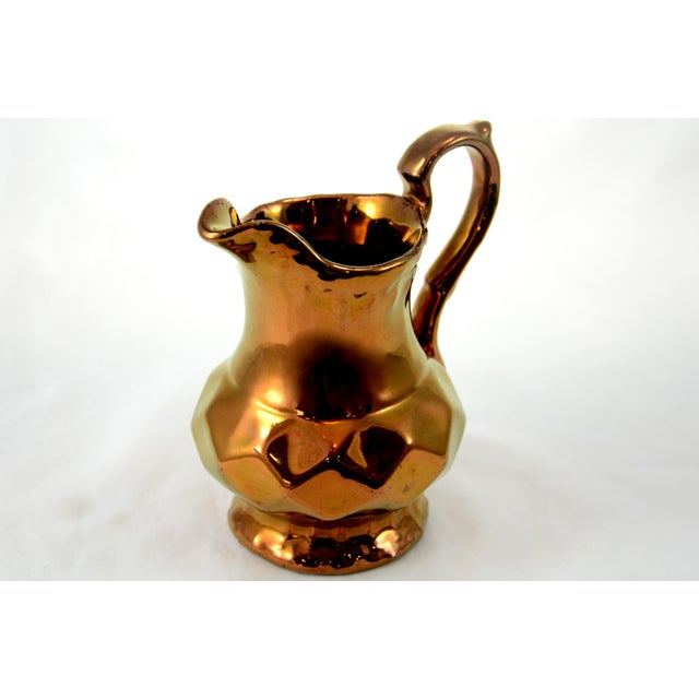 English Copper Luster Jug - Image 3 of 6
