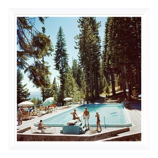 "Slim Aarons, ""Pool at Lake Tahoe,"" January 1, 1959 Getty Images Gallery Framed Art Print For Sale"