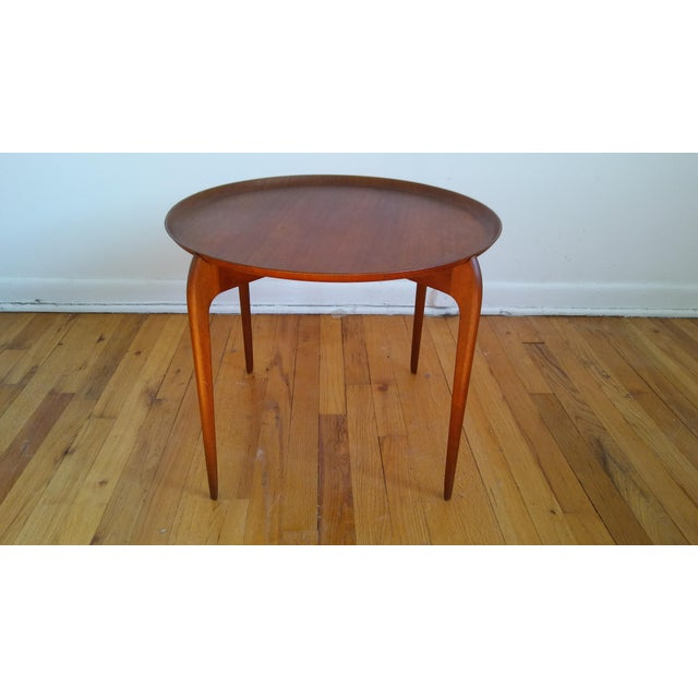 Fritz Hansen Teak Tray Table For Sale - Image 11 of 11