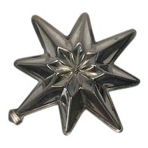 1977 Reed & Barton Sterling Christmas Star Limited Edition For Sale