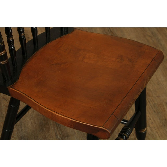 Hitchcock Eagle Painted Black & Maple Side Chair For Sale - Image 9 of 13