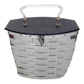 1950s Vintage Dorset-Rex Metal Basketweave Handbag For Sale