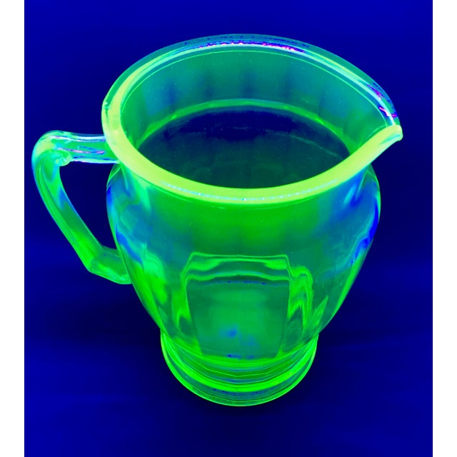 Anchor Hocking Green Uranium Glass Pitcher - Image 8 of 10