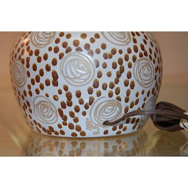 Martz for Marshall Studios Glazed Table Lamp For Sale - Image 4 of 5